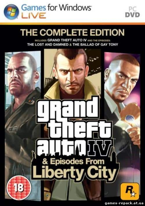 GTA 4 / Grand Theft Auto IV - Complete Edition [v 1070-1120] repack